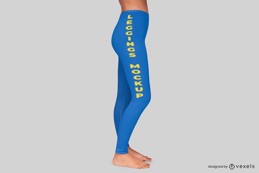 Diseño de maqueta de leggings laterales