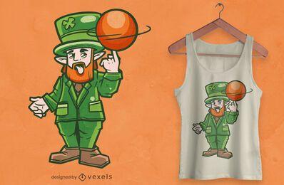 Design de camiseta do duende de basquete