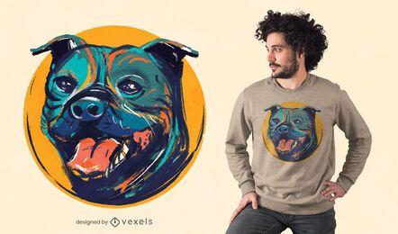 Staffordshire bull terrier t-shirt design