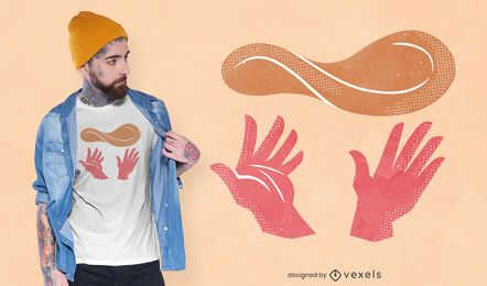 Hands throwing dough t-shirt design