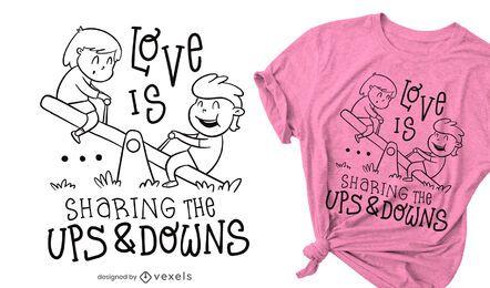 Design de camisetas para cima e para baixo