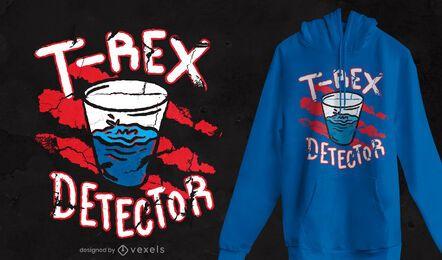 Diseño de camiseta de detector de T Rex.