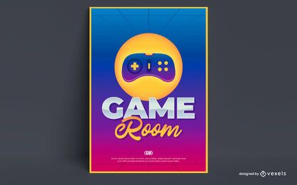 Game room poster design