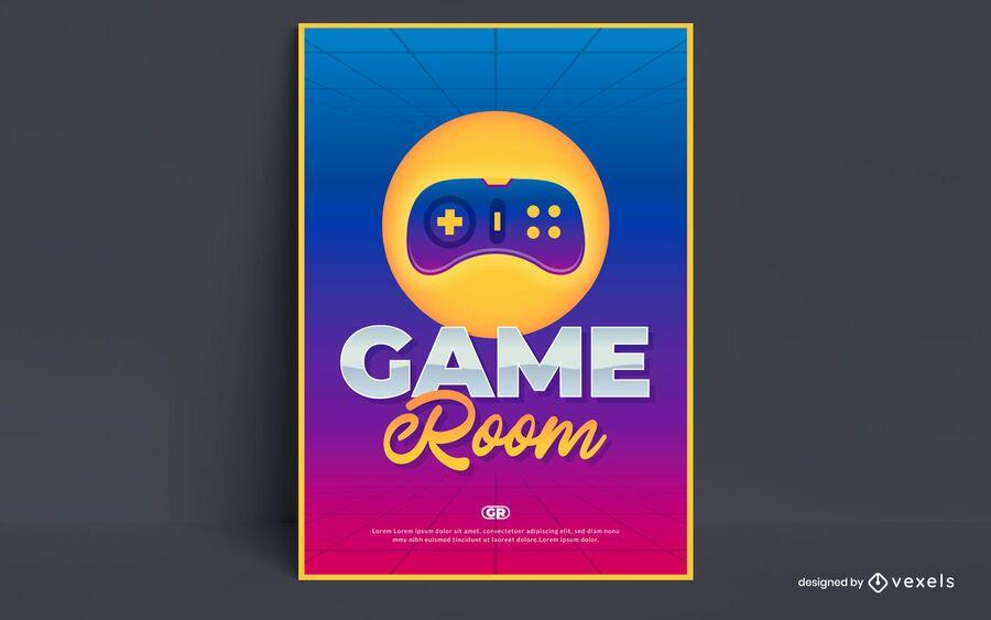 Game room poster design