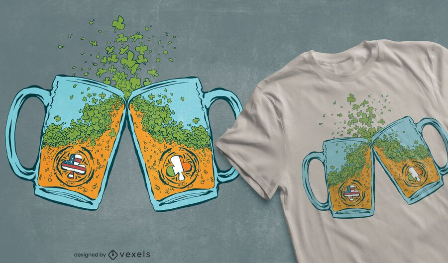 Usa irish beer t-shirt design