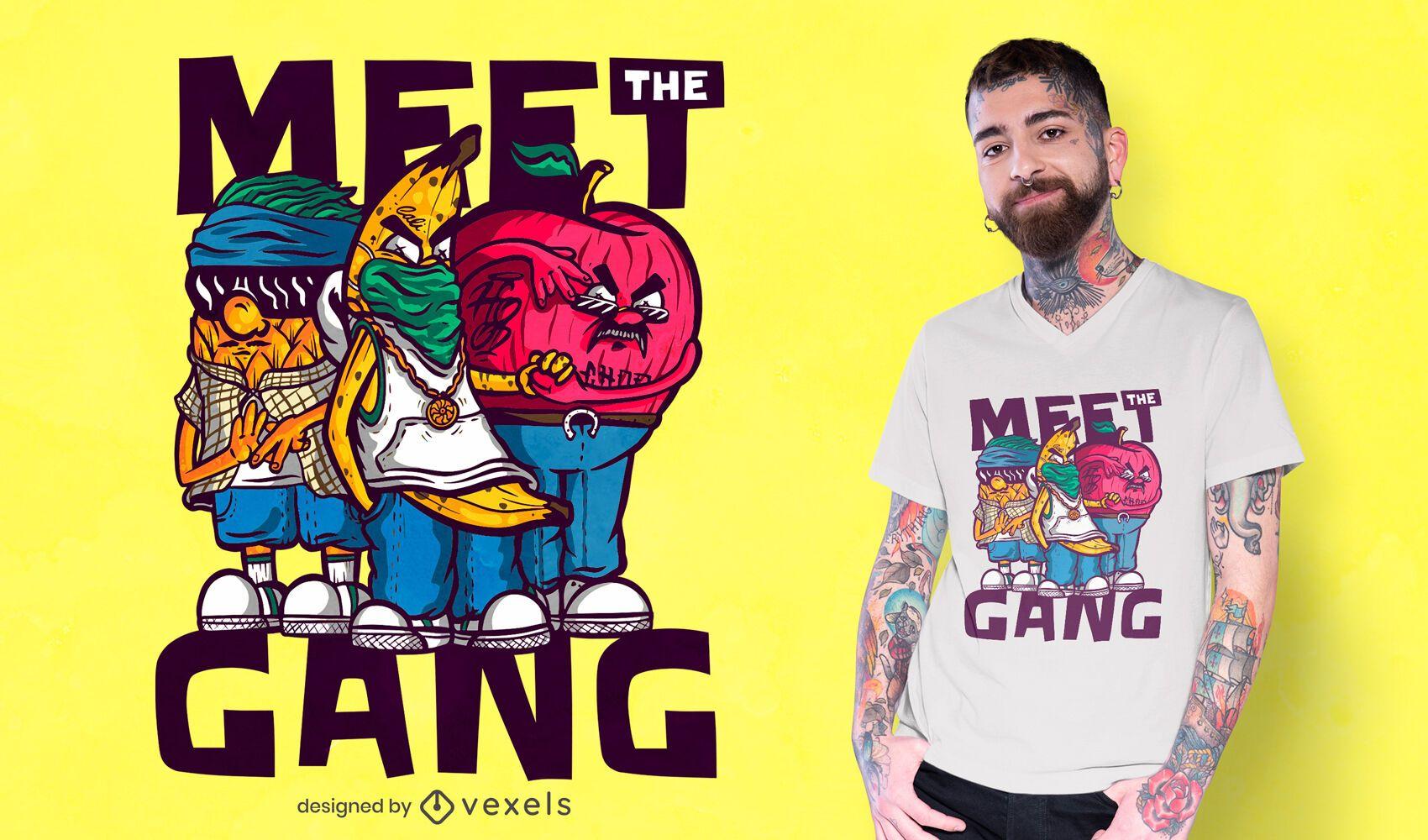 Conoce al diseño de camiseta de pandillas