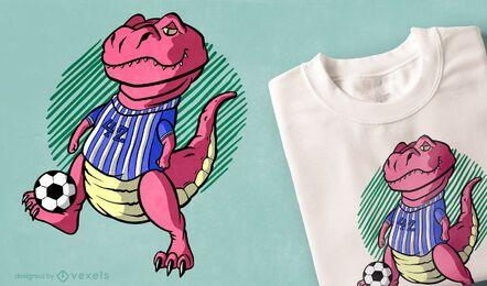 Diseño de camiseta de fútbol t-rex
