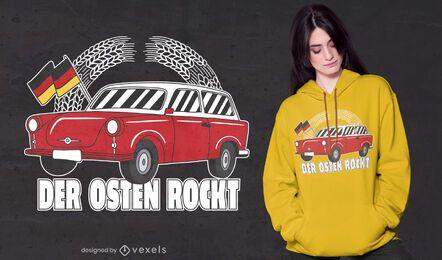 Diseño de camiseta de las rocas del este