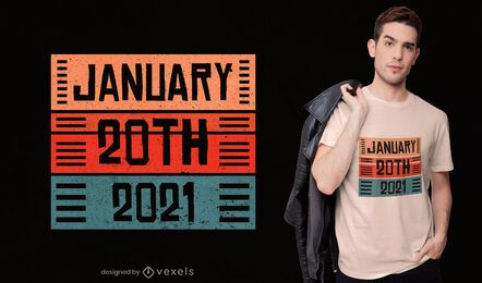 Design da camiseta do Dia da Inauguração