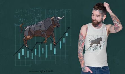 Polygonal bull stock t-shirt design