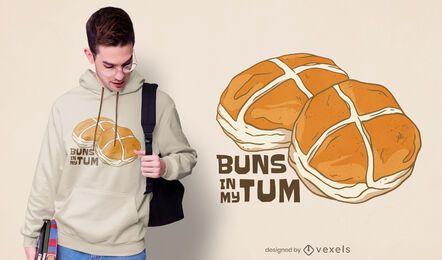 Buns in my tum t-shirt design