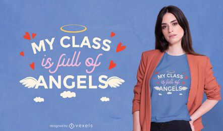 Angel class t-shirt design