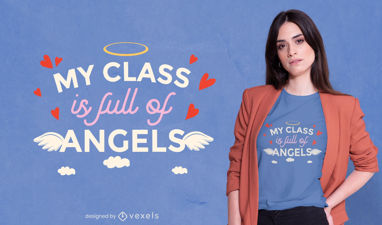 Diseño de camiseta angel class
