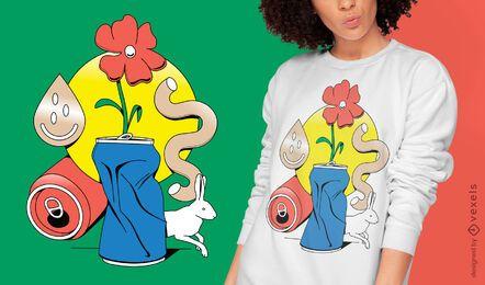 Natureza morta pode projetar camisetas