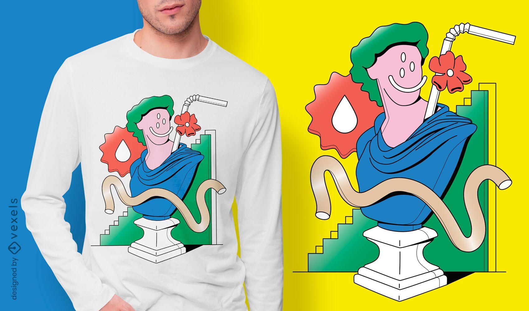 Surreal sculpture t-shirt design