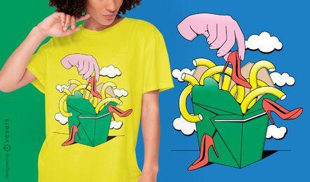 Diseño de camiseta para llevar surrealista