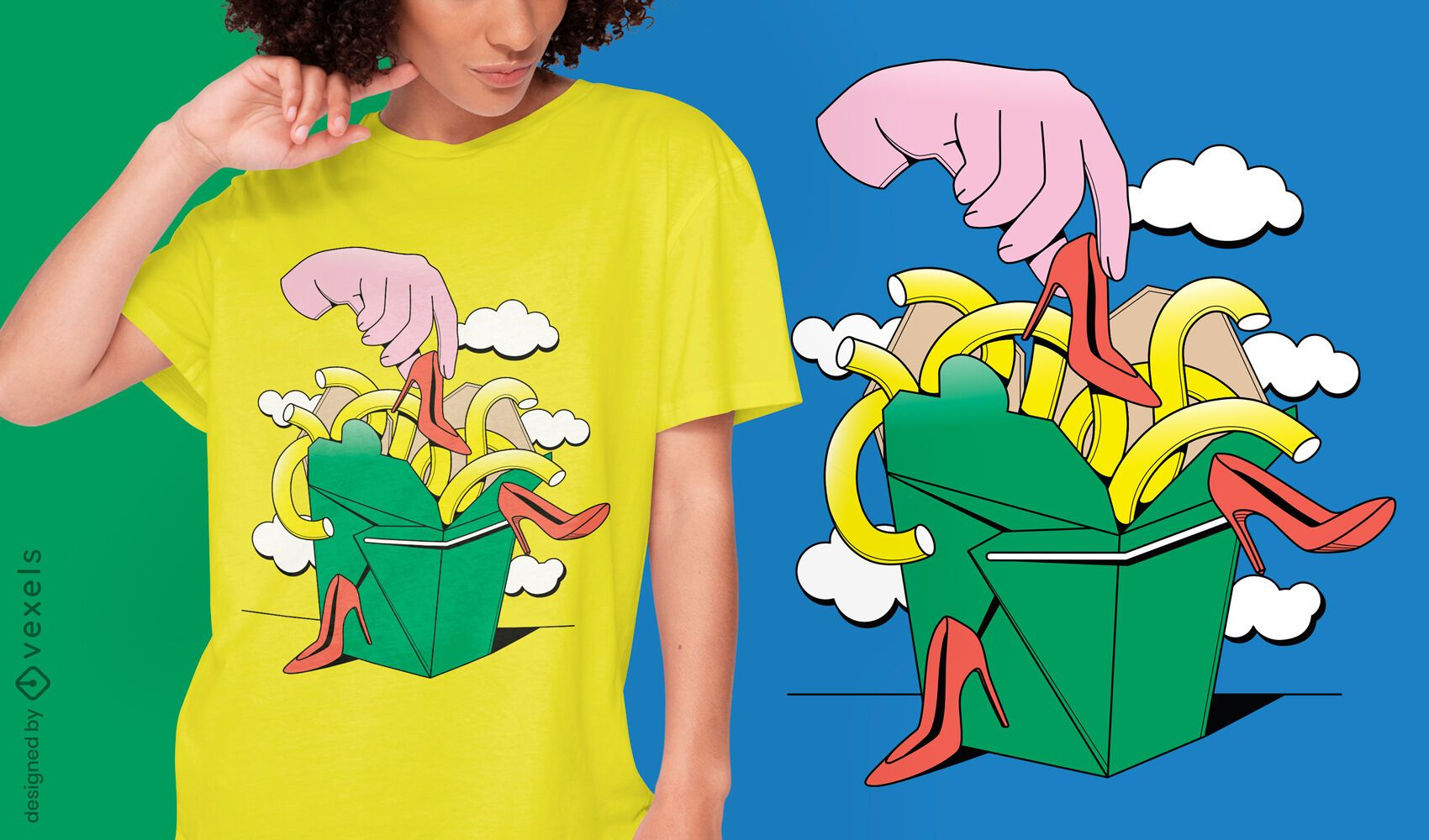 Surreal takeout t-shirt design