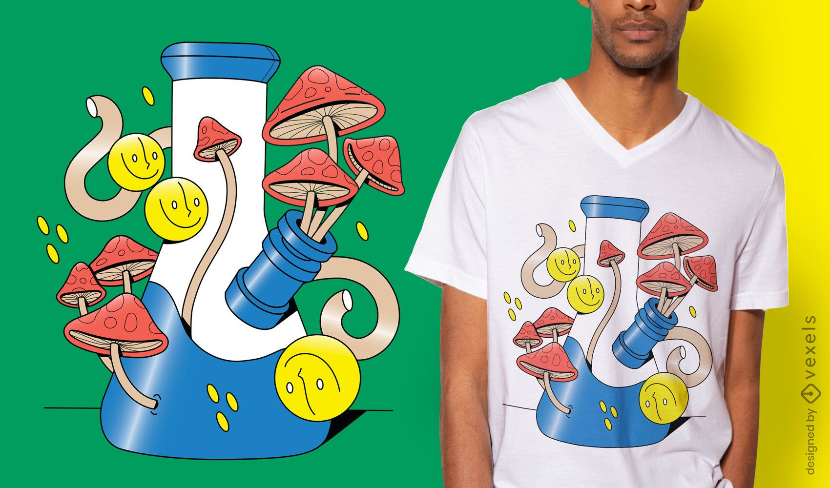 Surreal hookah t-shirt design