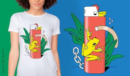 Diseño abstracto de camiseta más ligera