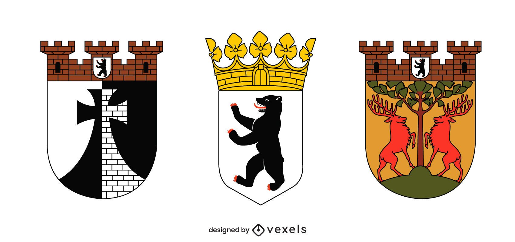Berlin coat of arms set