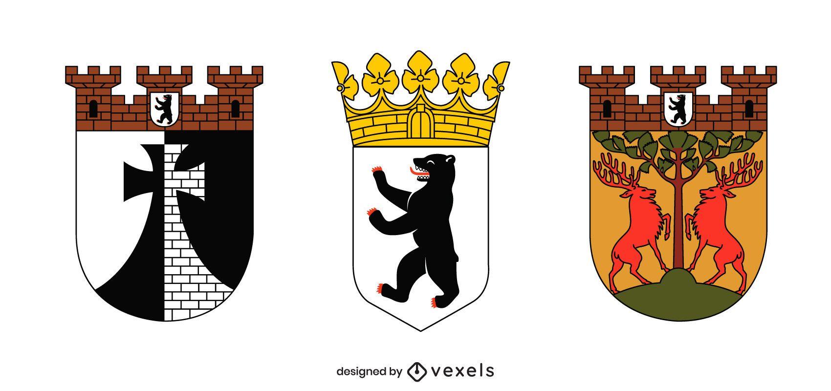 Conjunto de escudo de armas de Berlín