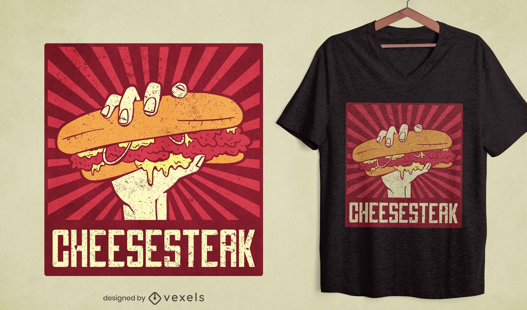 Diseño de camiseta Cheesesteak