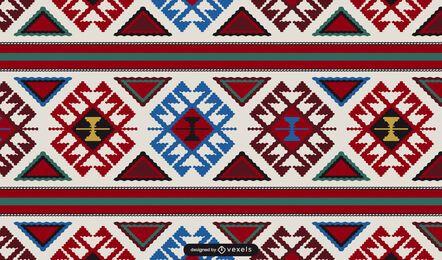 Diseño de patrón de alfombra armenia