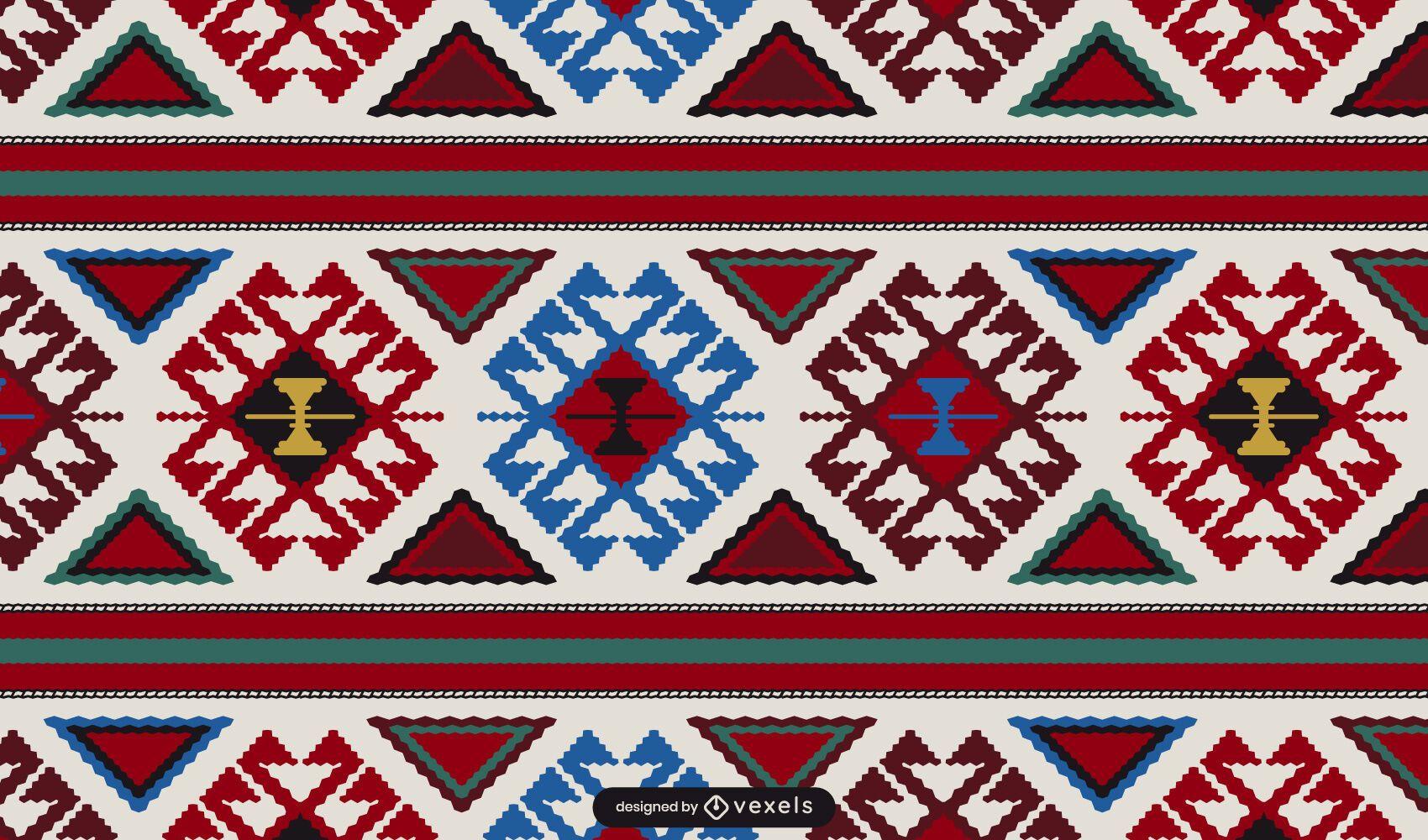 Armenian carpet pattern design