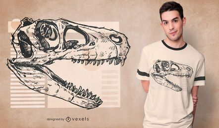 Utahraptor skull t-shirt design