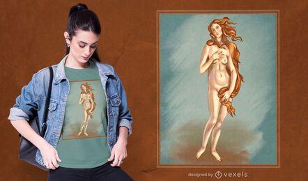 Diseño de camiseta Venus Painting