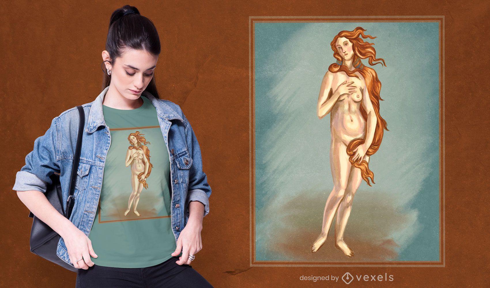Dise?o de camiseta Venus Painting
