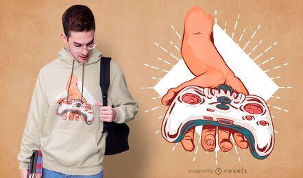 Diseño de camiseta de controlador de mano