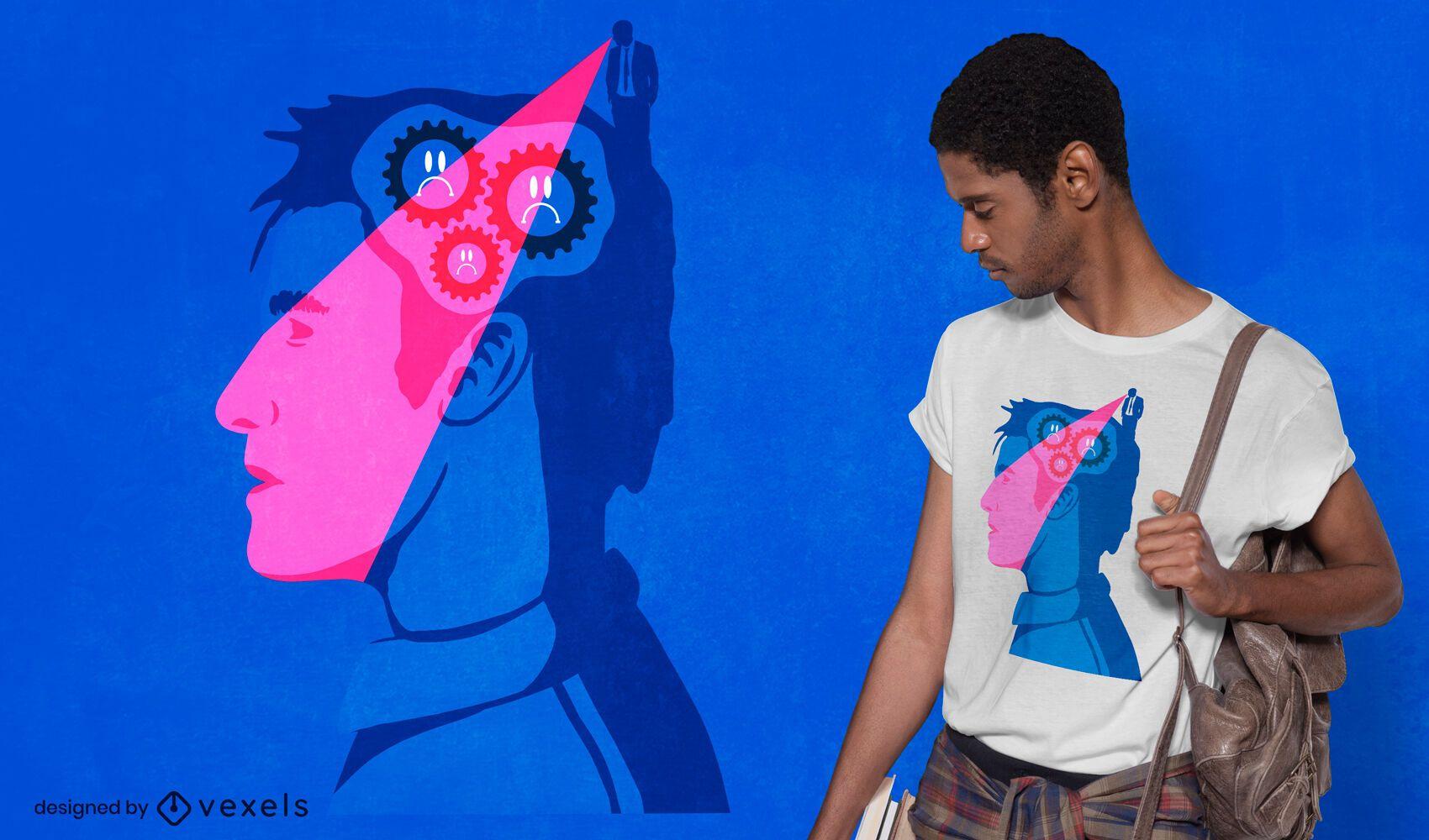 Design de camiseta do Sad gears