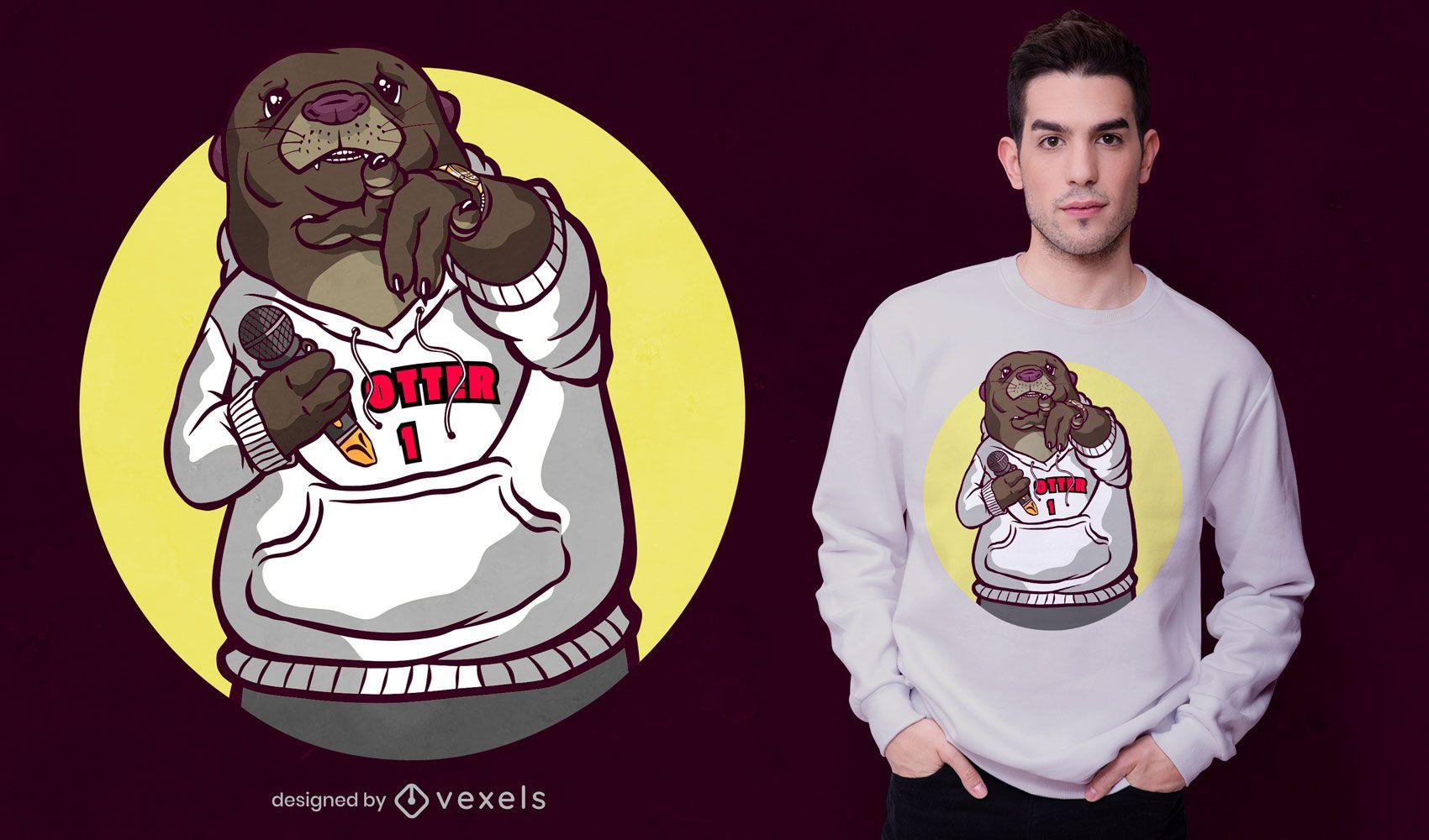 Cool otter t-shirt design