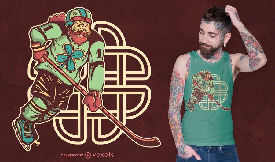 St patricks hockey t-shirt design