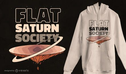 Flaches Saturn-Gesellschaftst-shirt Design