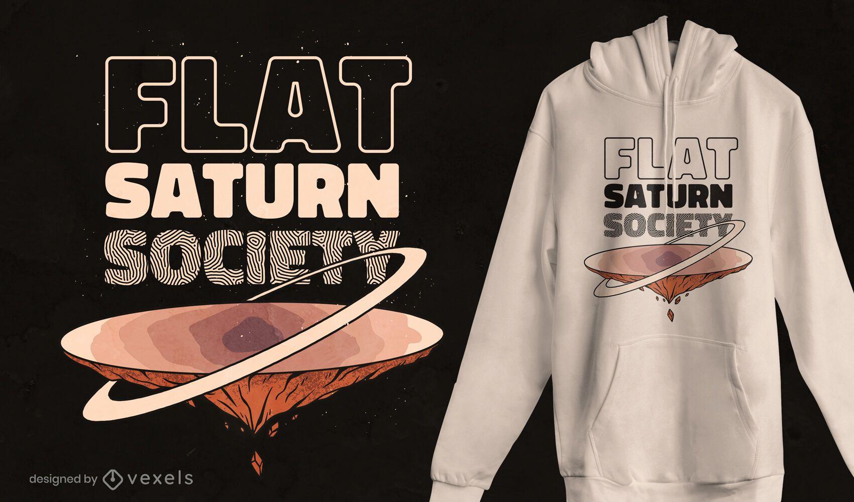 Flat saturn society t-shirt design