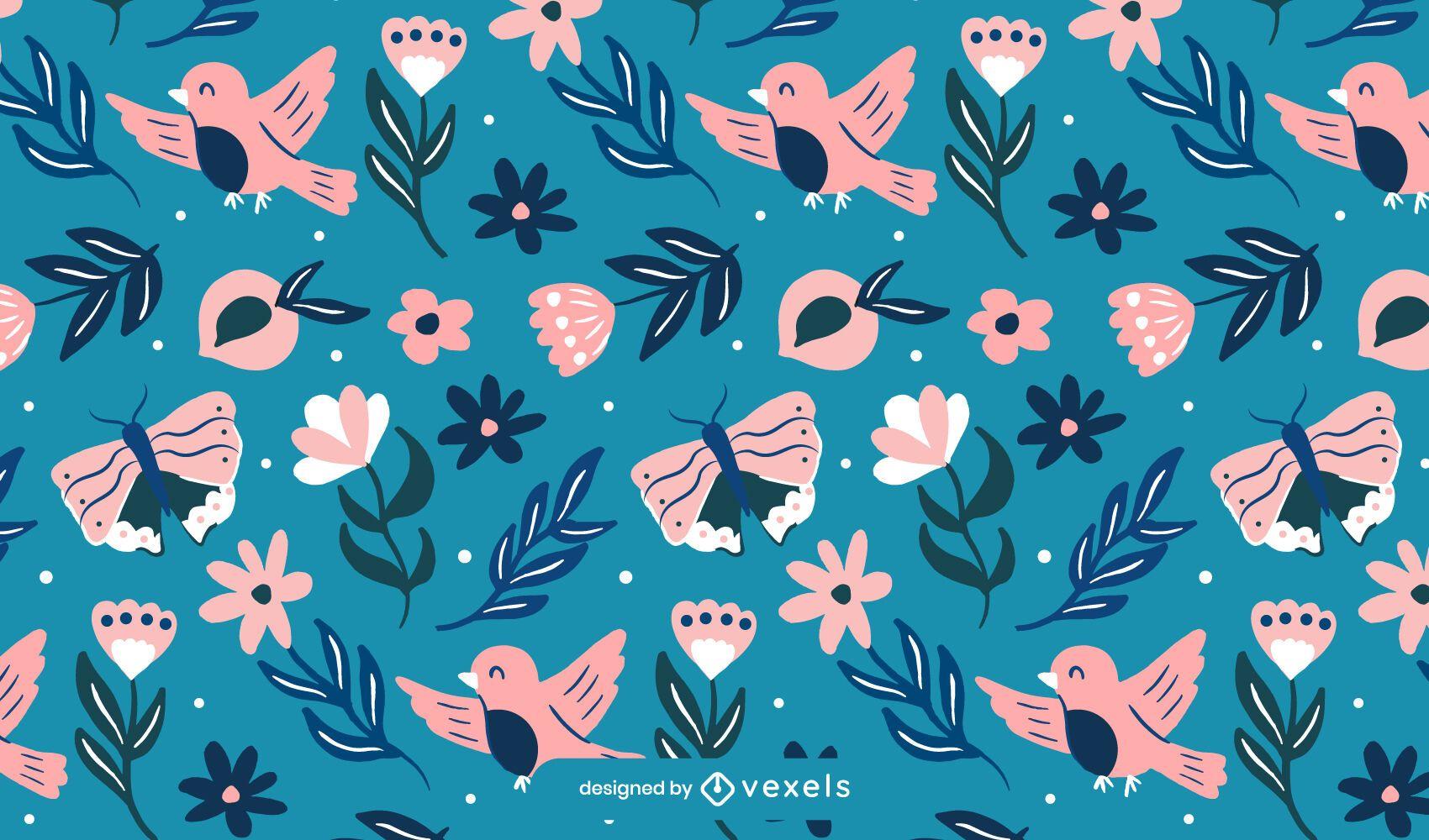 Diseño de patrón de naturaleza de primavera