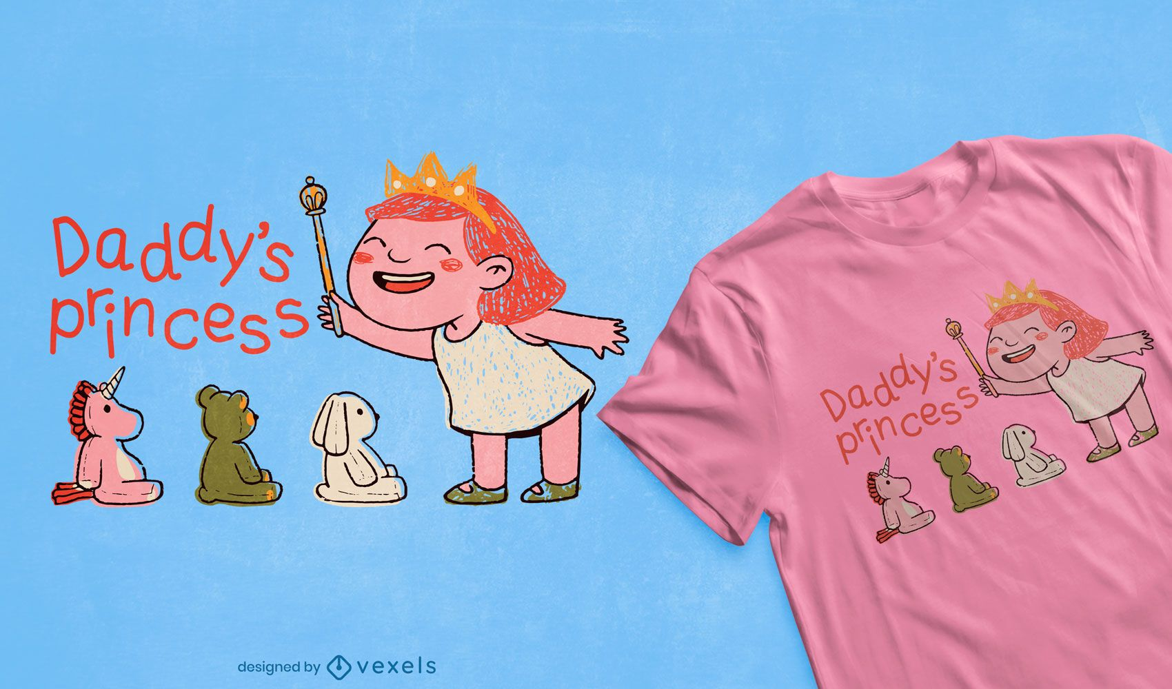 Daddy's princess t-shirt design