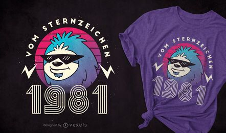 Sloth 1981 t-shirt design