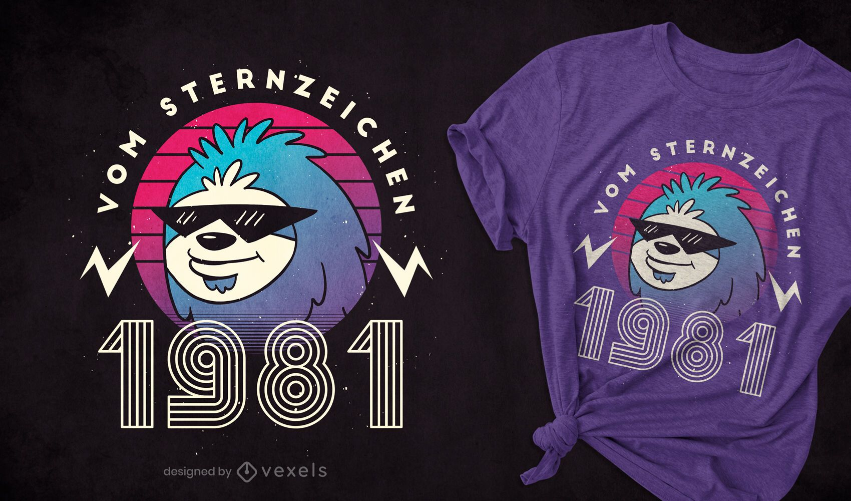 Sloth 1981 t-shirt design