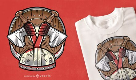 Diseño de camiseta de equipo vikingo.