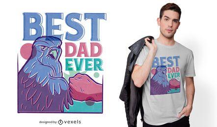 Melhor design de t-shirt do pai águia