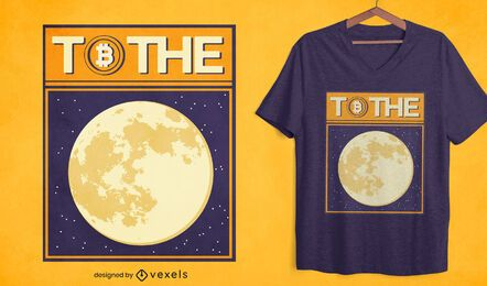 Bitcoin moon t-shirt design