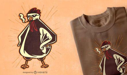 Diseño de camiseta de pollo fresco
