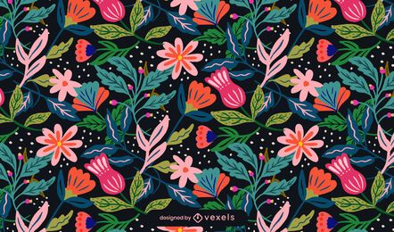 Flowers spring pattern design