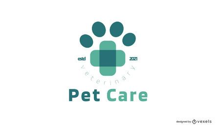 Modelo de logotipo de pet care