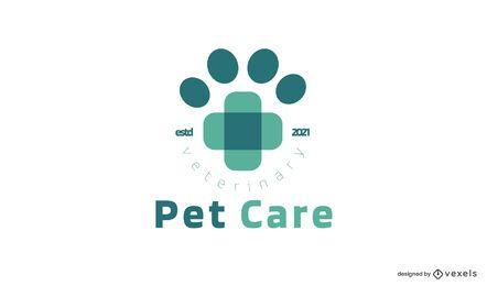 Modelo de logotipo de pet care