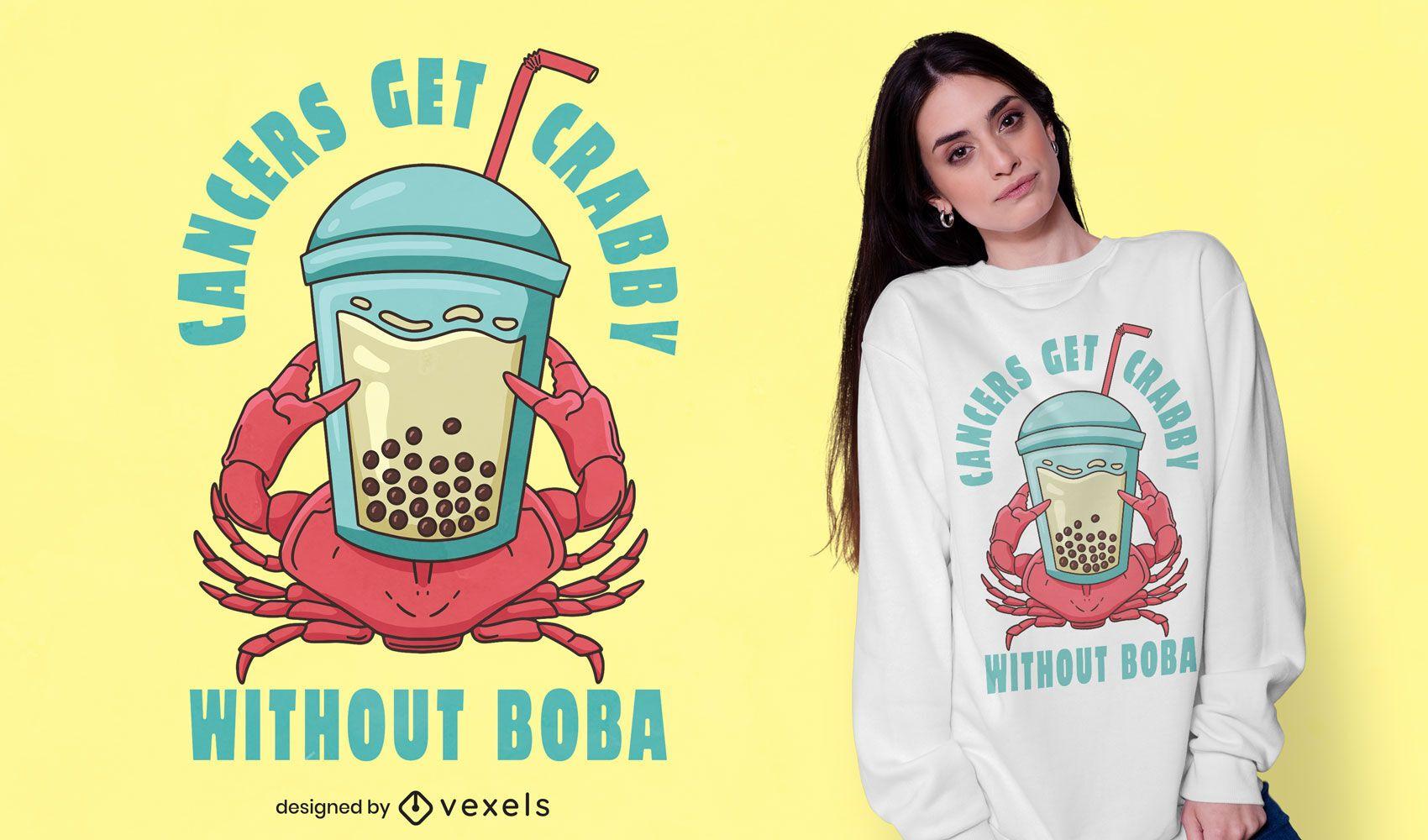 Diseño de camiseta Crabby Boba
