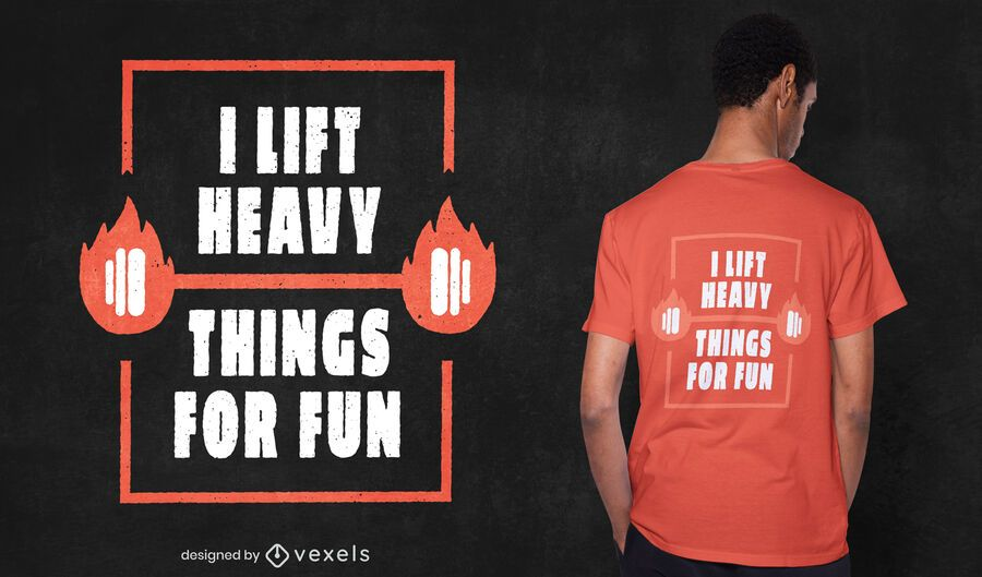 Fun weightlifting t-shirt design